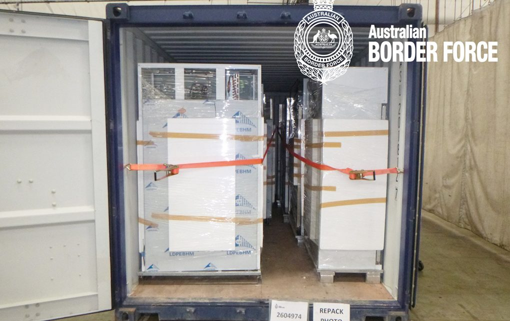 Authorities seize ice in imported fridges