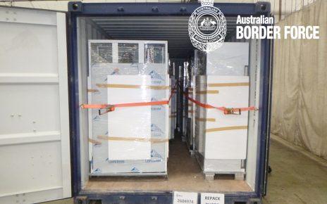 Authorities seize ice in imported fridges